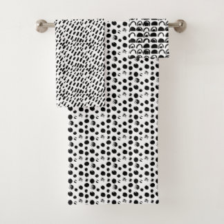 motif abstrait noir et blanc