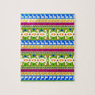 Motif africain de licorne puzzle