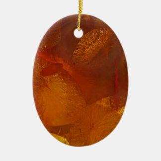 Motif ambre élégant ornement ovale en céramique
