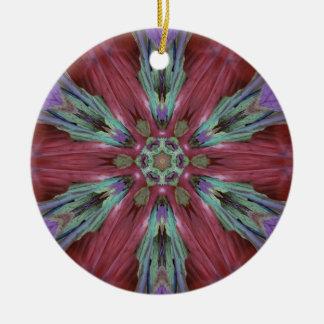Motif artistique moderne turquoise rose de riches ornement rond en céramique