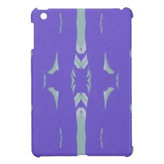 Motif Artsy de lavande de vert doux de menthe Étui iPad Mini