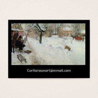 Motif Asogatan Suède d'hiver Carte De Visite Grand Format