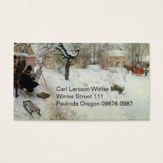 Motif Asogatan Suède d'hiver Carte De Visite Standard