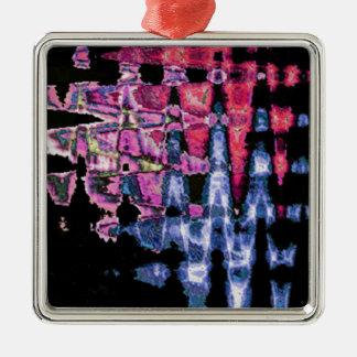 Motif assez mignon de couleurs d'eau ornement carré argenté