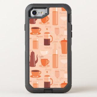Motif avec les boissons et le texte coque otterbox defender pour iPhone 7