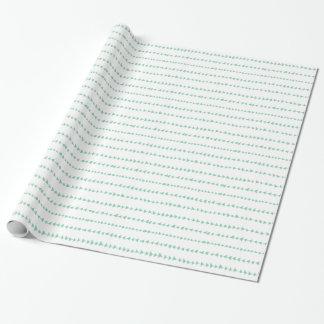 Motif aztèque blanc vert en bon état de flèches papiers cadeaux noël