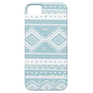 Motif aztèque tribal de dentelle (bleu) iPhone 5 case