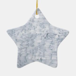 motif blanc abstrait minimal de texture de pinceau ornement étoile en céramique