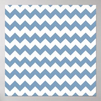 Motif blanc bleu de Chevron de crépuscule