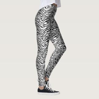 Motif blanc de rayure de tigre leggings
