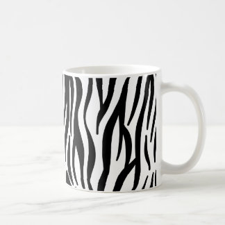 Motif blanc et noir de zèbre mug blanc