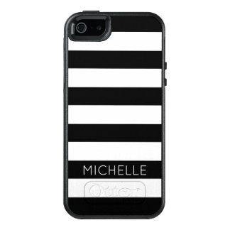 Motif blanc noir chic moderne Girly Cust de Coque OtterBox iPhone 5, 5s Et SE