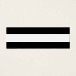 Motif blanc noir moderne de rayures carte de visite petit format