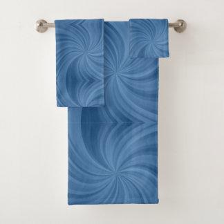 Motif bleu contemporain moderne de remous