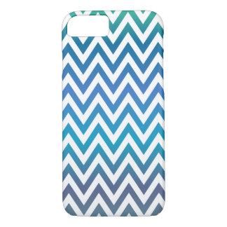 Motif bleu de chevron coque iPhone 7