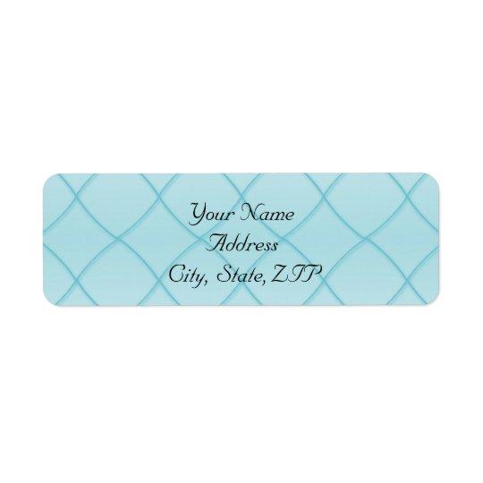 Motif bleu de diamant d'Aqua Étiquette D'adresse Retour