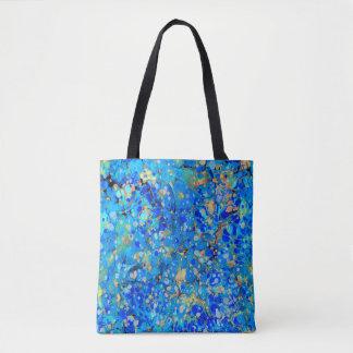 Motif bleu de mer élégante beau sac
