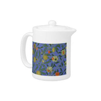Motif bleu de papier peint de William Morris