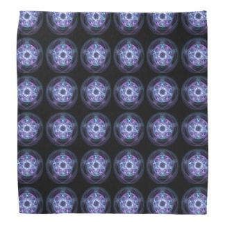 Motif bleu de pentagone étoilé du feu de bandana