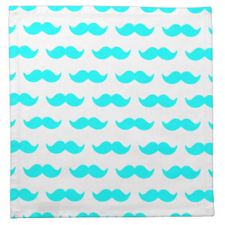 Motif bleu et blanc 1 d'Aqua de moustache Serviettes En Tissus