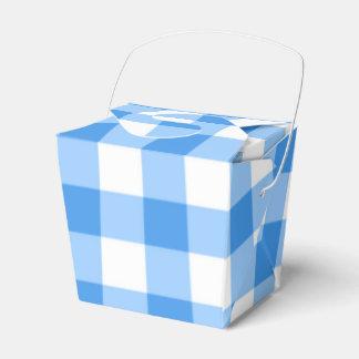 Motif bleu et blanc de contrôle de guingan ballotins de dragées