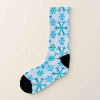 Motif bleu et blanc d'hexagone de flocon de neige