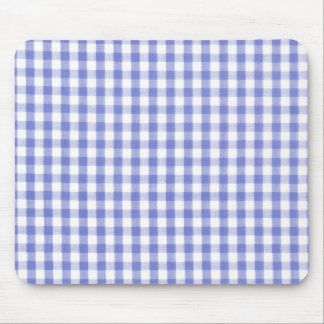 Motif bleu-foncé de guingan tapis de souris