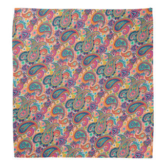 Motif bleu orange rose multicolore de Paisley Bandanas