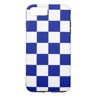 Motif Checkered de bleu et blanc royal Coque iPhone 7 Plus