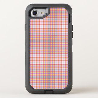 Motif checkered orange élégant coque otterbox defender pour iPhone 7