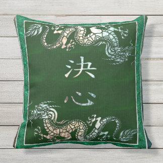 Motif chinois de tribal de dragon oreiller