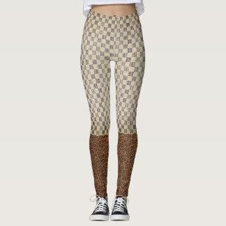 Motif classique de quadrillage de style legging