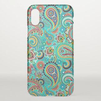 Motif coloré abstrait de Paisley Coque iPhone X