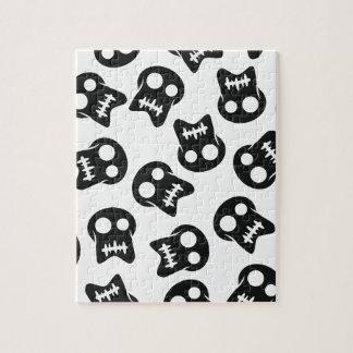 Motif comique de noir de crâne puzzle