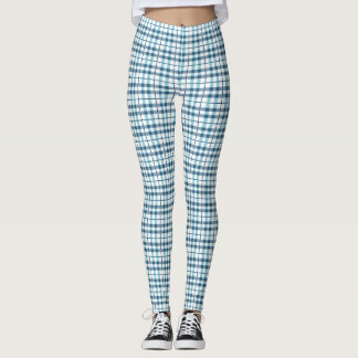 Motif confortable de plaid de pyjama leggings