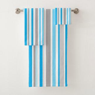 Motif contemporain moderne de rayure bleue