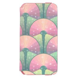Motif d'abrégé sur rose et vert coque-portefeuille iPhone 6 incipio watson™