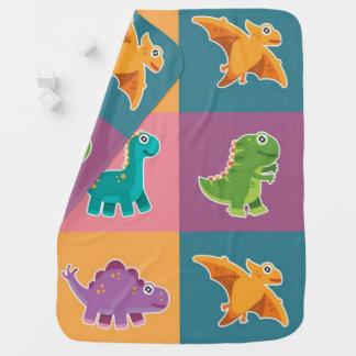 Motif d'amis de Dino de bébé Couverture Pour Bébé