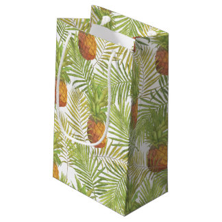Motif d'ananas d'aquarelle petit sac cadeau