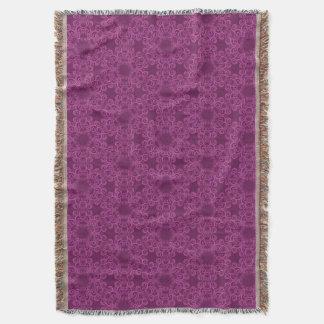 Motif d'arabesque de prune couvertures