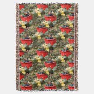 Motif d'art de nature de récolte de courge de couvre pied de lit