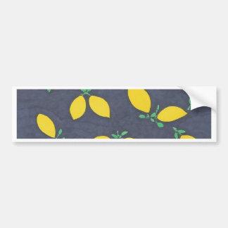Motif d'art de nourriture de baisses de citron autocollant de voiture