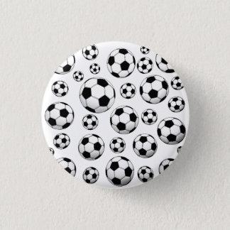 Motif de ballon de football badge rond 2,50 cm