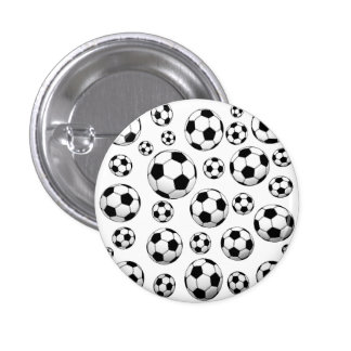 Motif de ballon de football badge rond 2,50 cm