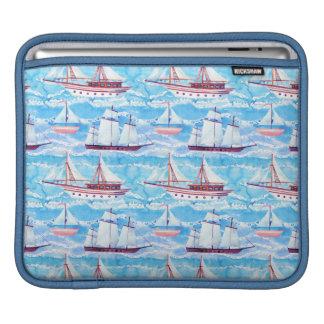 Motif de bateaux de navigation d'aquarelle housse iPad