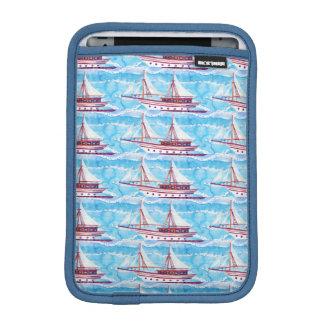 Motif de bateaux de navigation d'aquarelle housse iPad mini
