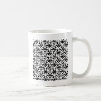 Motif de blanc et de noir mug
