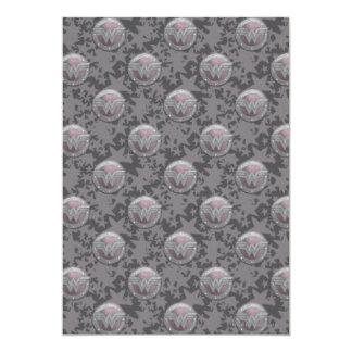 Motif de bouclier de femme de merveille carton d'invitation  12,7 cm x 17,78 cm