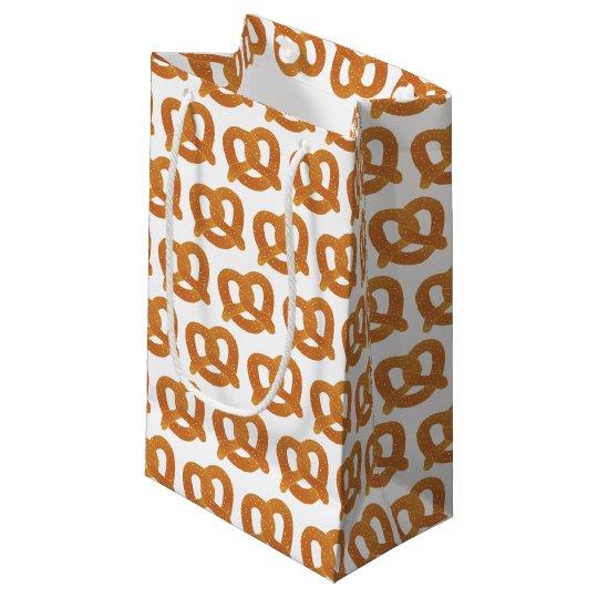 Motif de bretzel mou petit sac cadeau