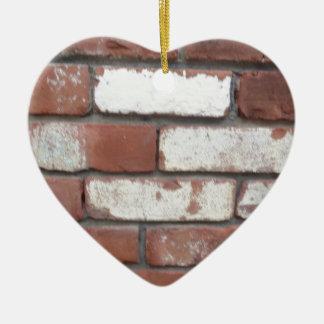 Motif de brique ornement cœur en céramique